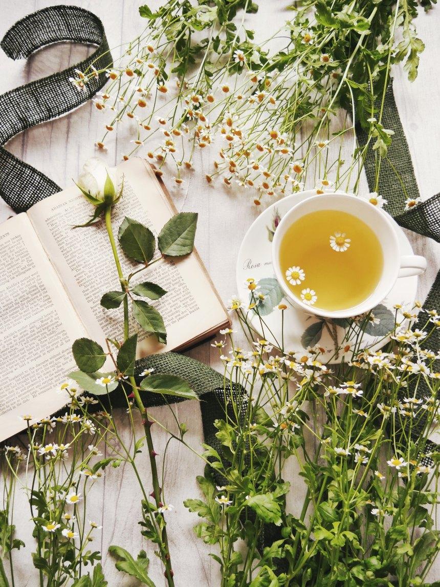 Book, Flowers, Tea