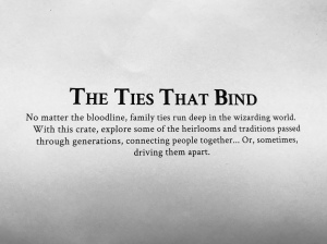 """Ties That Bind"" J. K. Rowling's Wizarding World Loot Crate"