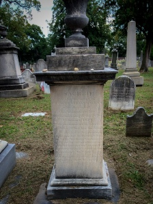 Shockoe Hill Cemetery - Richmond, VA - Grave of Frances Allan, Poe's Foster Mother