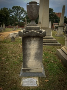 "Shockoe Hill Cemetery - Richmond, VA - Grave of Jane Stanard, Poe's ""Helen"""